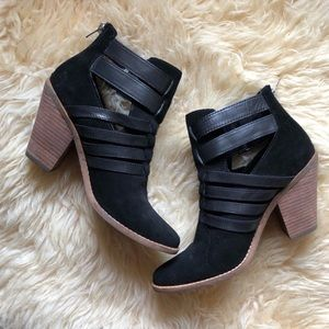 Dolce Vita Shoes - Dolce Vita   Caitlynn Ankle Zip Black Suede Bootie